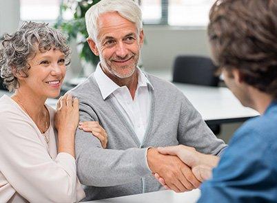 Couple meeting a financial advisor